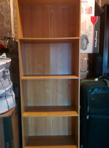 Two book  shelving units with five shelves in a good condition