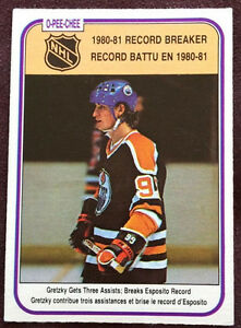 Wayne Gretzky 1980-81 Record Breaker Card