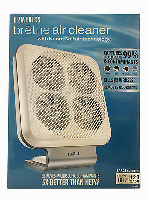 HoMedics AR-NC01 Brethe Air Cleaner with Nano Coil Technology - New! Open Box