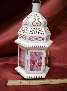 outdoor/indoor Fancy Metal and glass Candle holder