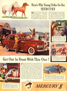 Large color magazine ad for 1941 Ford Mercury (10 1/4 x 14)
