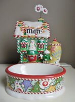 M&M's 2004 Collectible Christmas Bakery Candy Dish