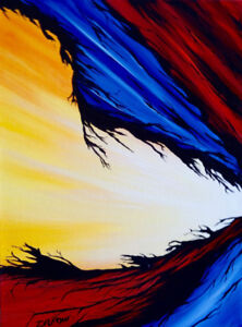 Abstract painting by professional artist - Faith