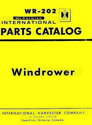 International Mccormick 175 Windrower Windrow Harvesters Parts Catalog Manual Ih