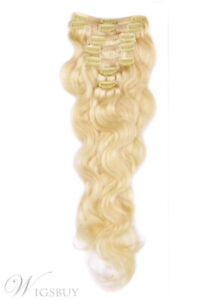 HUMAN HAIR EXTENSIONS - CHAMPAGNE BLONDE
