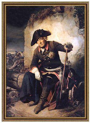 Schlacht bei Kolin 1757 FRIEDRICH DER GROßE HOHENZOLLERN LEINENFAKSIMILE 155
