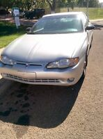 2002 Chevy Monte Carlo Very Low Kms! New Tires 2500$ OBO