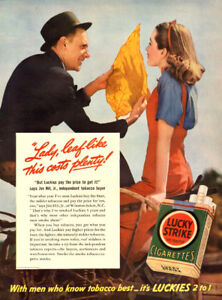 1941 full page color ad for Lucky Strike (10 ¼  x 14)
