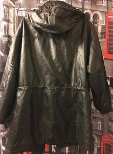 (LEATHER) COAT (KNEE LENGTH) ($299)