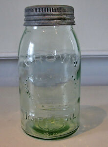 Green Mason Jar - Vintage - Collectible