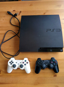 PS 3 slim 32GB with 2 controllers