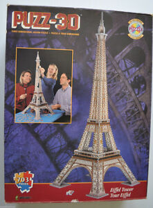 Wrebbit 3D puzzle- Eiffel Tower London Ontario image 1