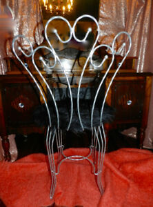 1930 Gorgeous Antique Vanity Crystal Knobs Shag Chair OhLaLa