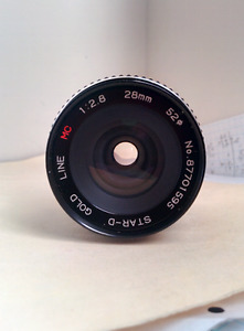 Fujica Mount Star-D Gold Line 28mm f/2.8 MC Lens