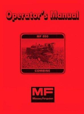 Massey Ferguson Mf 850 Combine Operators Manual Mf850