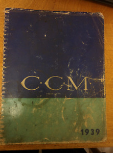 Vintage 1939 and 1940 CCM Catalogues