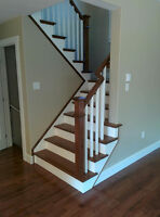 Hardwood Stairs & Iron Railings ( Glass ) - BBB A+