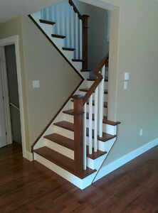 Hardwood Stairs & Iron Rails ( Glass ) - BBB A+