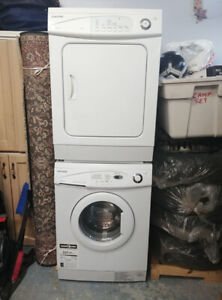 Samsung apartment-size washer and two dryers