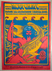 Victor Moscoso, Poster, Moby Grape & The Charlatans, 1967