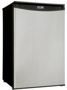 Stainless Steel/Black Danby Mini Fridge (4.4cu ft)