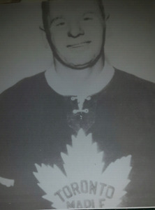 Johnny Bowers Toronto Maple Leafs hockey picture print