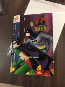 The adventures of Batman and robin Manual for Super Nintendo