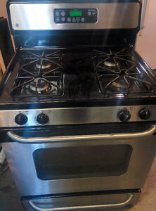 GE stainless gas stove,  30  and 24 inch stoves
