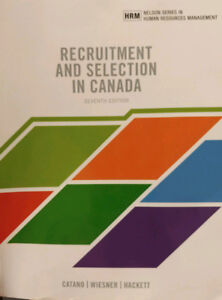 Recruitment and Selection in Canada, 7th Canadian edition