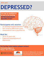 **Are you depressed? And 20-55 years old? DEPRESSION STUDY**