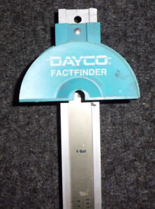 DAYCO FactFinderTool To Check V-Ribbed Automotive Belt Number