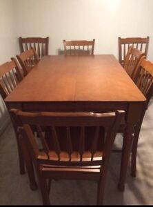 $300 Pub Height Table + 8 Chairs
