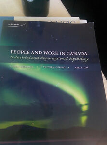 PEOPLE AND WORK IN CANADA-INDUSTRIAL AND ORGANIZATIONAL PSYCH