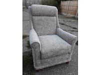 Tennyson Fabric Wing Arm Chair Pair *BRAND NEW* SCS