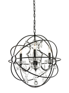 "Matteo Orva Chandelier - 20.5"" - Bronze finish Orbs"