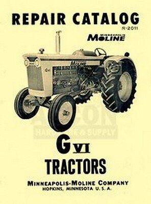 Minneapolis Moline G Vi Tractors Parts Manual Catalog