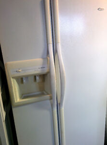 FRIDGES  side by side:    Amana and Kenmore