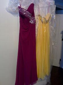 Prom Dress Plum Strapless