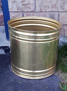 Large brass planter pot decorative indoor outdoor use