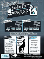 Building for paws At Dee's Toys and Collectibles