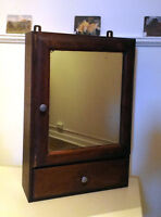 ORIGINAL ANTIQUE PHARMACY CABINET