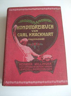 Konditoreibuch von Carl Krackhart Prachtausgabe mit 104 Farb-Tafeln von 1911