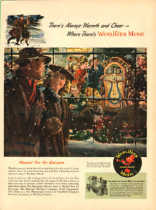 Large 1947 magazine ad for Wurlitzer Model 1080 Jukebox
