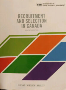 Recruitment and Selection in Canada 7th Edition - Barely Used