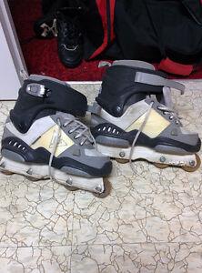 patins à roulettes de rampe