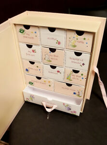 Brand New - Baby Girl Keepsakes Box with drawers