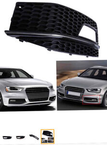 1 Pair Fog Light Lamp Cover Grille - Audi A4 2013-2015 S-line S4