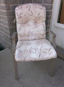 Patio Chairs plus cushions (2)
