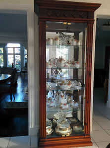 Curio Display Cabinet - Mahogany