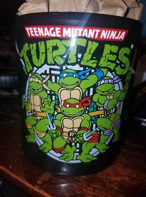 Mug Shot Background (Teenage Mutant Ninja Turtle Group Shot, Jumbo Ceramic Mug Black Background)